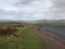 Downhill after Glendoe climb