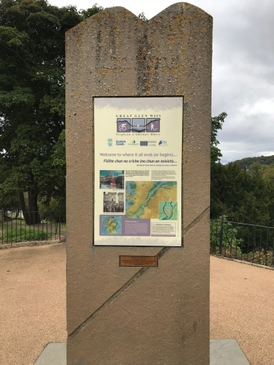 Great Glen Way sign at Inverness Castle